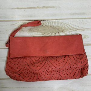 Coral clutch wallet by American Eagle Outfitters